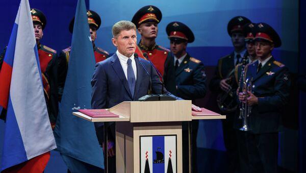 Губернатор Сахалинской области Олег Кожемяко. Архивное фото