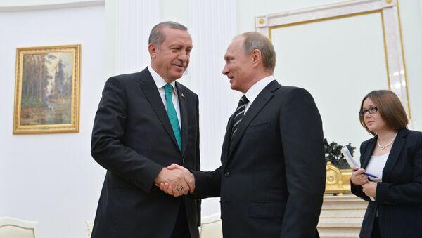 Президент РФ В.Путин встретился с президентом Турции Р.Эрдоганом. Архивное фото