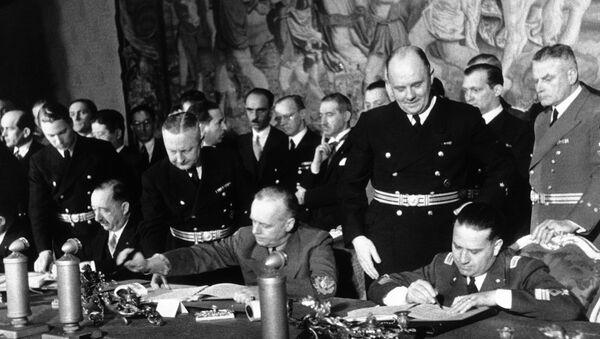 Время подписания тройственного пакта – соглашения о военном союзе Германии, Италии и Японии