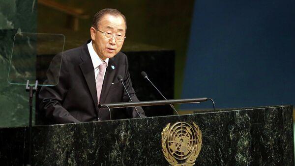 Генсек ООН Пан Ги Мун. Архивное фото