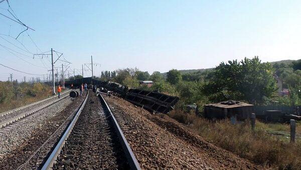 Сход вагонов в Саратовской области