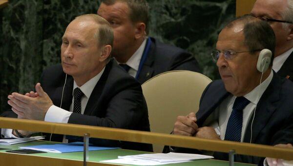 Владимир Путин и Сергей Лавров на Генассамблее ООН