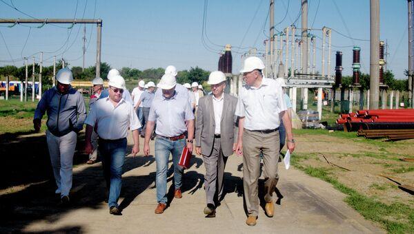 Представители ГУП РК Крымэнерго принимают участие в рабочем совещании по строительству энергомоста . Архивное фото