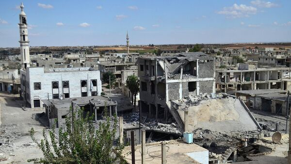 Вид сирийского города Хомс. 30 сентября 2015