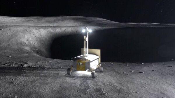 Концепт лунохода для исследования лунной поверхности