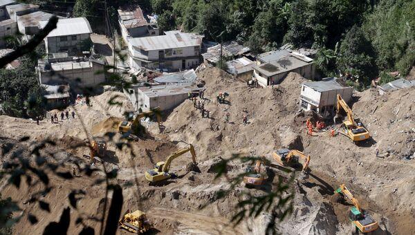 Последствия оползня в Гватемале
