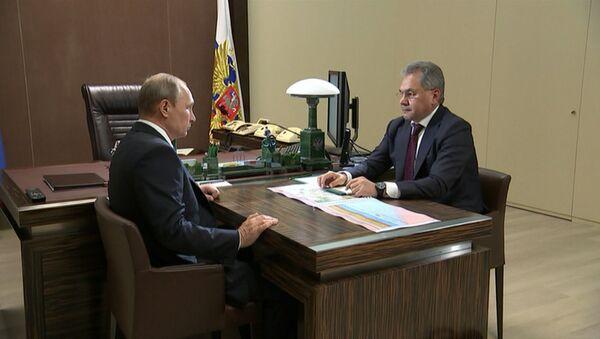 Шойгу доложил Путину об ударах российских кораблей по позициям ИГ в Сирии
