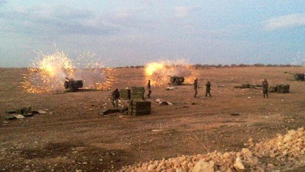 Сирийская артиллерия ведет огонь по террористам на севере провинция Хама