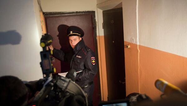Полиция при задержании лиц по подозрению в причастности к подготовке теракта в Москве