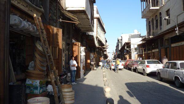 Центральный рынок в старой части города Дамаска. Архивное фото