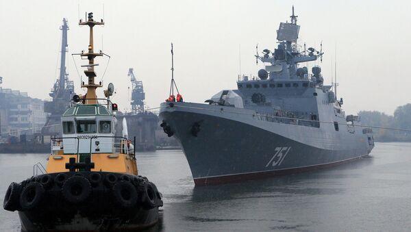 Сторожевой корабль Адмирал Эссен вышел в море на ходовые испытания