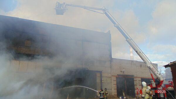 Пожар в цеху по производству дверей в городе Ковров