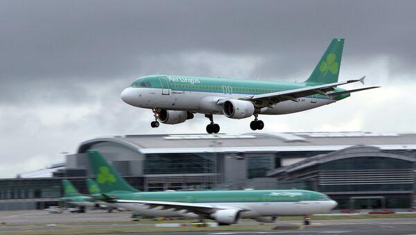 Самолеты авиакомпании Aer Lingus в аэропорту Дублина