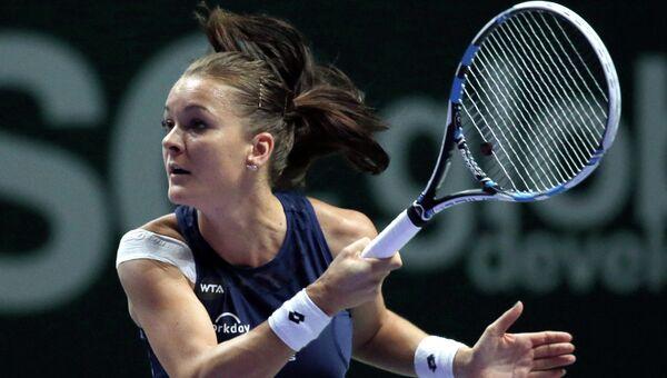 Польская профессиональная теннисистка Агнешка Радваньская. 29 октября 2015