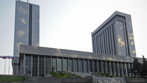 Здание Милли Меджлиса (парламента) Республики Азербайджан в Баку. Архивное фото