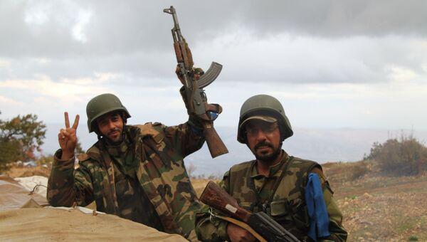 Сирийская армия и бойцы народного ополчения. Архивное фото