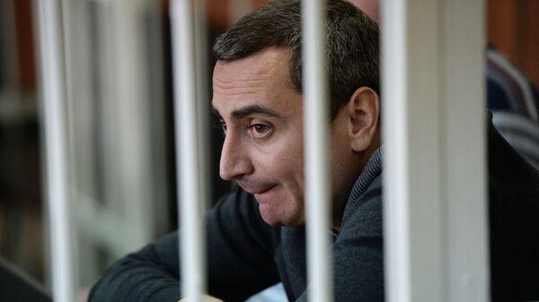 Бывший вице-мэр Новосибирска Александр Солодкин (младший) в зале Новосибирского областного суда. Архивное фото
