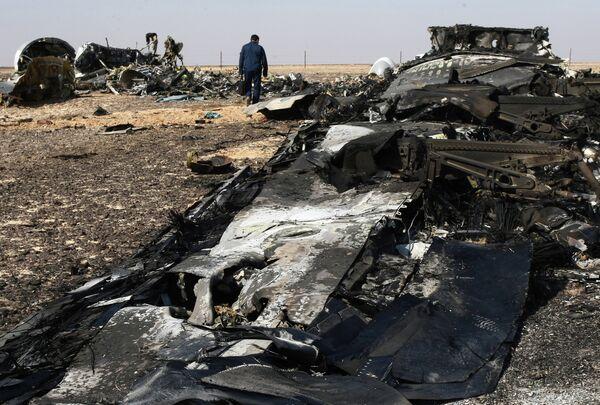 Обломки самолета Airbus A321 авиакомпании Когалымавиа