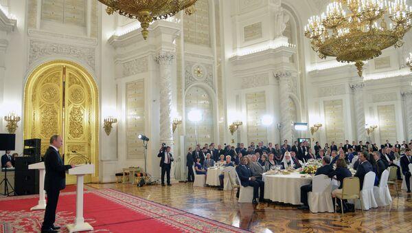 Президент РФ Владимир Путин вручил государственные награды России иностранным гражданам