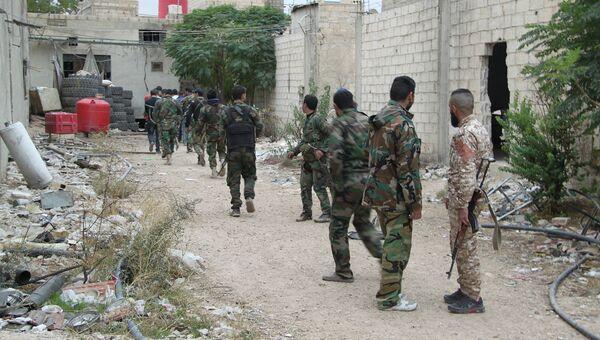 Сирийская армия проводит спецоперацию. Архивное фото