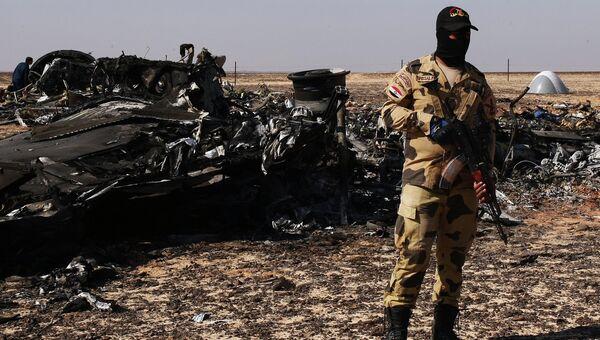 Место крушения российского самолета Airbus A321 в Египте. Архивное фото