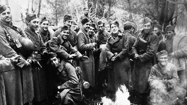 Солдаты испанской Голубой дивизии
