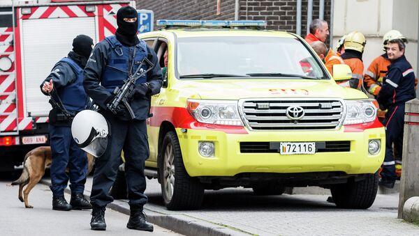 Бельгийская полиция проводит спецоперацию. Архивное фото