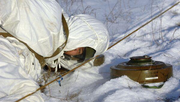 Учения инженерно-саперных войск. Архивное фото