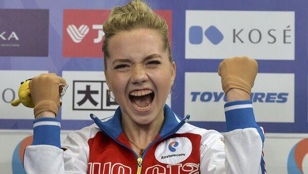 Елена Радионова (Россия) во время объявления результатов