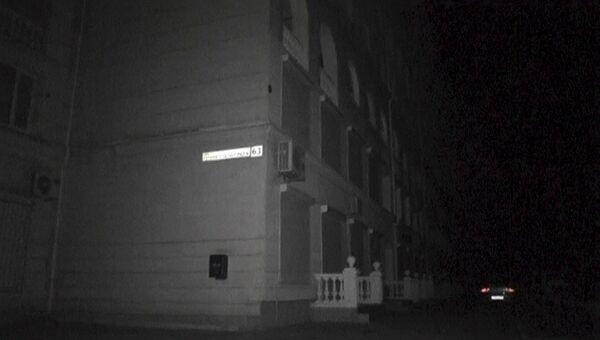Здание в Севастополе во время отключения отключения электроэнергии в Крыму, 22 ноября 2015