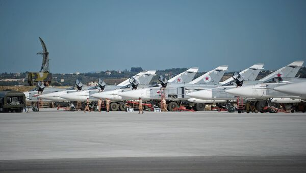 Российская боевая авиация на авиабазе Хмеймим в Сирии. Архив