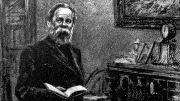 Фридрих Энгельс в рабочем кабинете. Архивное фото