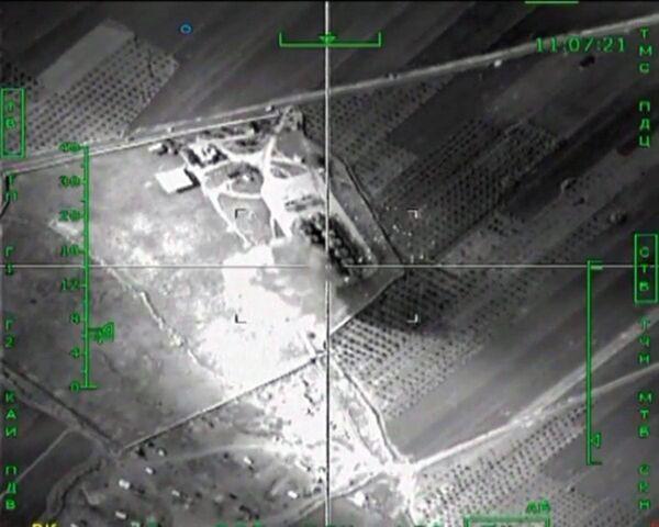 Уничтожение ВКС России нефтеперерабатывающего завода террористов в провинции Эс-Саура
