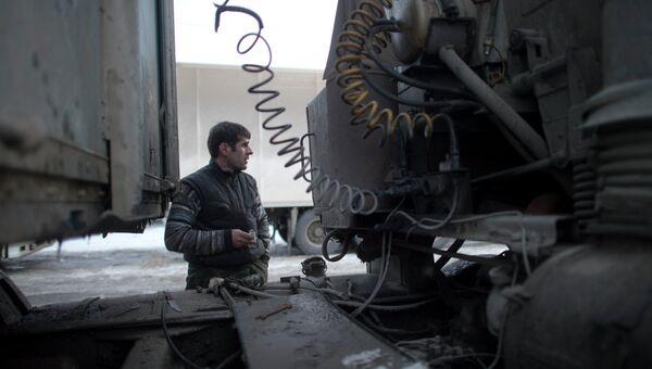 Водитель грузовика. Архивное фото