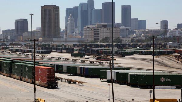 Вид Лос-Анджелеса. Архивное фото