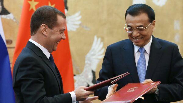 Дмитрий Медведев и Ли Кэцян. Архивное фото