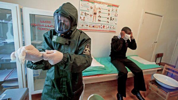 Учения военных медиков. Архивное фото
