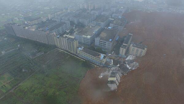 Оползень в Китае, 20 декабря 2015