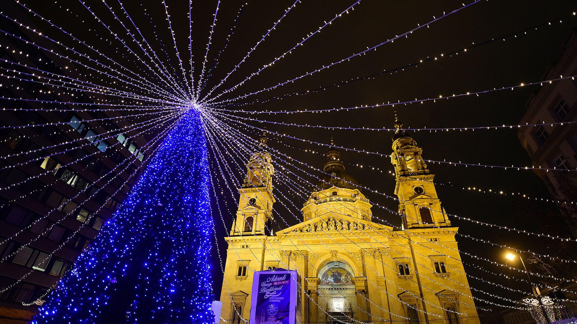 Рождественская елка около базилики Святого Стефана в Будапеште - РИА Новости, 1920, 20.11.2020