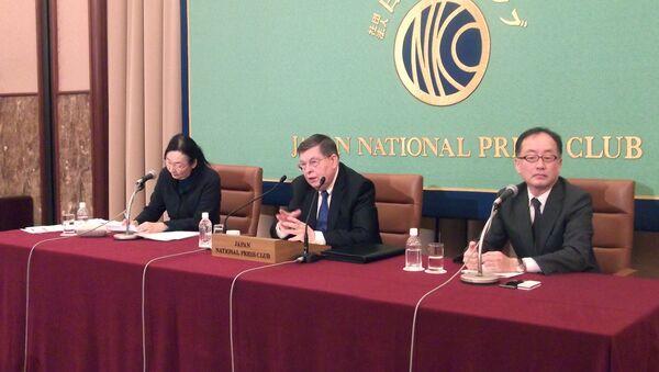 Пресс-конференция посла РФ Е.В. Афанасьева в Японском национальном пресс клубе