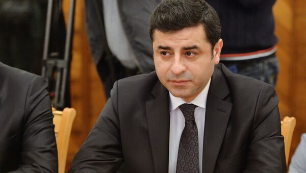 Сопредседатель партии Демократии народов Турции Селахаттин Демирташ. Архивное фото
