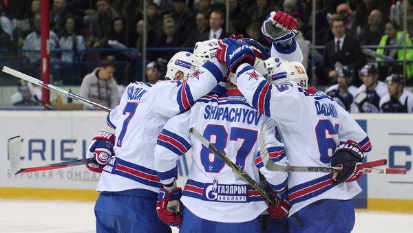 Игроки ХК СКА (Санкт-Петербург). Архивное фото