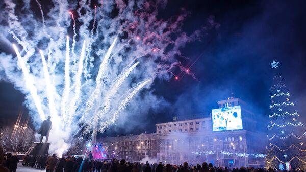 Встреча Нового года в Донецке