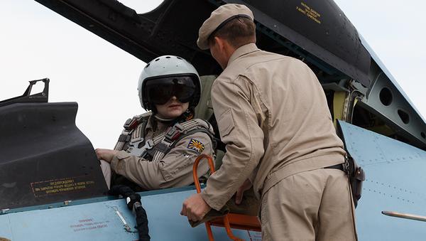 Российские военные на авиабазе Хмеймим в Сирии