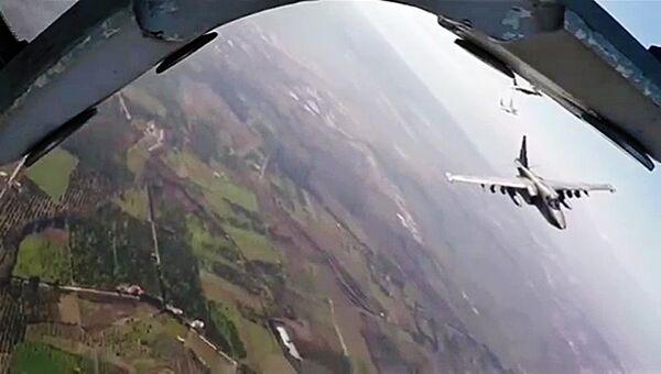 Боевые вылеты самолетов ВКС России в Сирии. Архивное фото