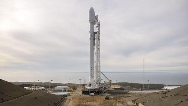 Ракета-носить Falcon 9 перед запуском. Архивное фото