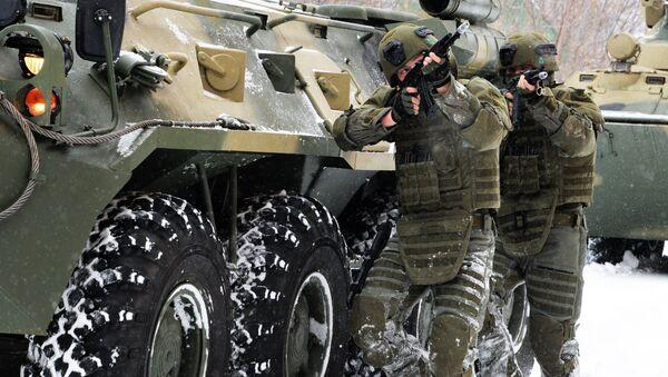 Учения штурмового батальона инженерных войск ВС РФ. Архивное фото