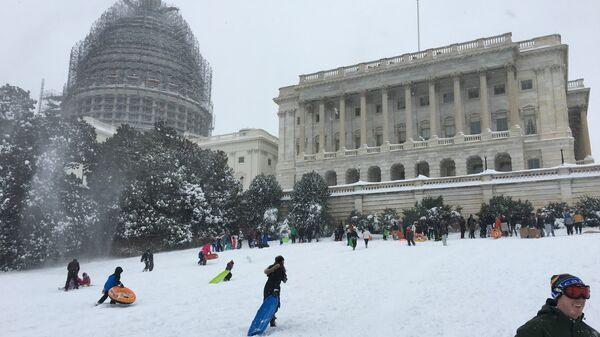 Снегопад в Вашингтоне, 24 января 2016