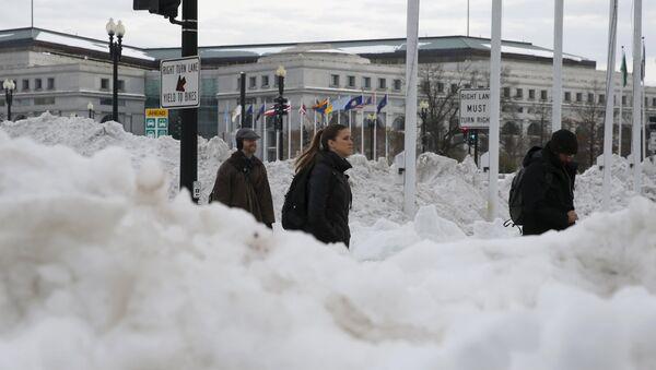 Последствия снегопада в Вашингтоне