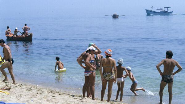 На болгарском побережье Черного моря